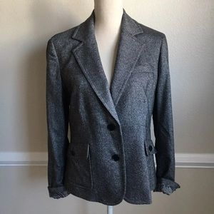Talbots Blazer Wool Blend Tweed Size 12